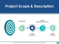 Project Scope And Description Ppt PowerPoint Presentation Show Slide Download