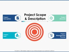 Project Scope And Description Slide Strategy Ppt PowerPoint Presentation Model Slide