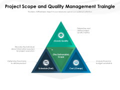 Project Scope And Quality Management Traingle Ppt PowerPoint Presentation File Graphics Template PDF