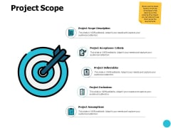 Project Scope Arrows Goal Ppt PowerPoint Presentation Pictures Information