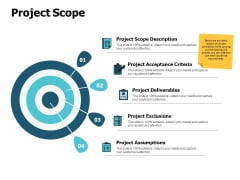 Project Scope Arrows Goal Ppt PowerPoint Presentation Styles