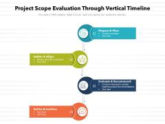 Project Scope Evaluation Through Vertical Timeline Ppt Portfolio Infographic Template PDF