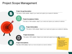 Project Scope Management Ppt PowerPoint Presentation File Example