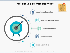 Project Scope Management Ppt PowerPoint Presentation File Visuals