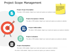 Project Scope Management Ppt PowerPoint Presentation Model Gridlines