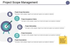 Project Scope Management Ppt PowerPoint Presentation Summary Graphics Download