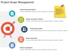 Project Scope Management Ppt PowerPoint Presentation Summary