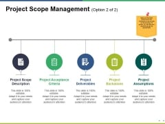 Project Scope Management Template 1 Ppt PowerPoint Presentation Icon Guidelines