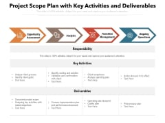 Project Scope Plan With Key Activities And Deliverables Ppt PowerPoint Presentation Icon Slide PDF
