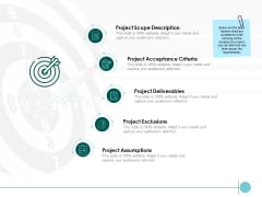 Project Scope Project Assumptions Ppt PowerPoint Presentation Styles Model