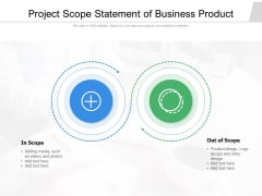 Project Scope Statement Of Business Product Ppt PowerPoint Presentation File Summary PDF