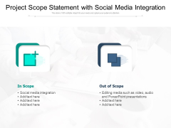 Project Scope Statement With Social Media Integration Ppt PowerPoint Presentation Gallery Rules PDF