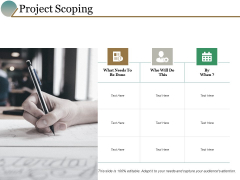 Project Scoping Ppt PowerPoint Presentation Outline Clipart Images