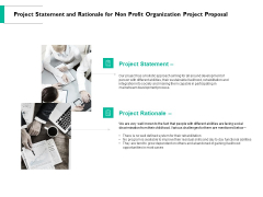 Project Statement And Rationale For Non Profit Organization Project Proposal Ppt PowerPoint Presentation Icon Demonstration
