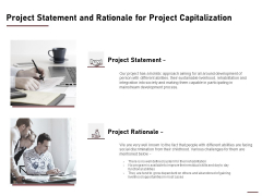 Project Statement And Rationale For Project Capitalization Ppt Inspiration Icon PDF