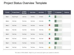 Project Status Overview Template Ppt PowerPoint Presentation Layouts Introduction