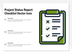 Project Status Report Checklist Vector Icon Ppt PowerPoint Presentation Gallery Layouts PDF