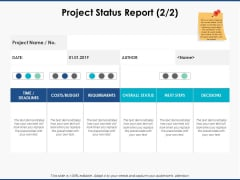 Project Status Report Marketing Ppt PowerPoint Presentation Outline Graphics Download