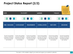 Project Status Report Ppt PowerPoint Presentation Model Graphics Download
