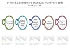 Project Status Reporting Dashboard Powerpoint Slide Backgrounds