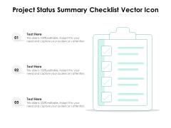 Project Status Summary Checklist Vector Icon Ppt PowerPoint Presentation Slides PDF