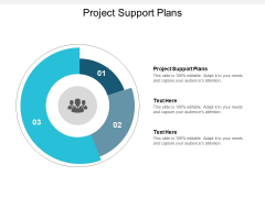 Project Support Plans Ppt PowerPoint Presentation Pictures Brochure Cpb
