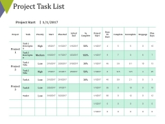 Project Task List Template 1 Ppt PowerPoint Presentation Show Slides