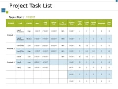 Project Task List Template 2 Ppt PowerPoint Presentation Slides Good