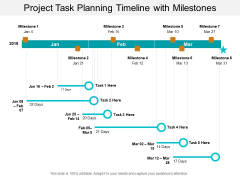 Project Task Planning Timeline With Milestones Ppt PowerPoint Presentation Summary Show