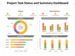 Project Task Status And Summary Dashboard Ppt PowerPoint Presentation Gallery Design Templates PDF