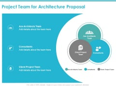 Project Team For Architecture Proposal Ppt PowerPoint Presentation Layouts File Formats