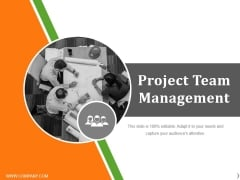 Project Team Management Ppt PowerPoint Presentation Styles Ideas