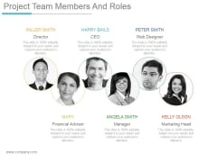Project Team Members And Roles Ppt PowerPoint Presentation Microsoft