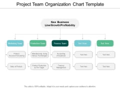 Project Team Organization Chart Template Ppt PowerPoint Presentation Outline Guide