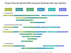 Project Team Six Months Work Execution Roadmap With User Interface Template