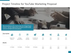 Project Timeline For Youtube Marketing Proposal Ppt PowerPoint Presentation Pictures Graphics