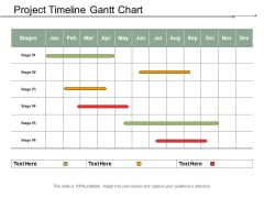 Project Timeline Gantt Chart Ppt PowerPoint Presentation Gallery