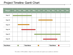 Project Timeline Gantt Chart Ppt PowerPoint Presentation Infographic Template Graphics Download