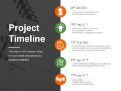 Project Timeline Ppt PowerPoint Presentation Design Ideas
