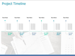Project Timeline Ppt PowerPoint Presentation Model