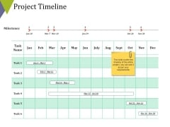 Project Timeline Ppt PowerPoint Presentation Pictures Templates
