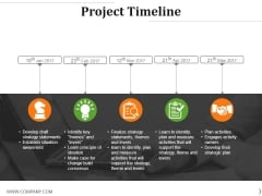 Project Timeline Ppt PowerPoint Presentation Portfolio Pictures