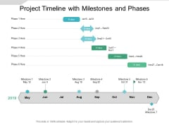 Project Timeline With Milestones And Phases Ppt PowerPoint Presentation Inspiration Background Images