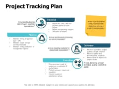 Project Tracking Plan Ppt PowerPoint Presentation Model Graphic Images
