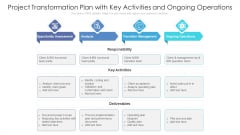 Project Transformation Plan With Key Activities And Ongoing Operations Ppt PowerPoint Presentation Inspiration Graphics PDF