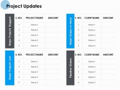Project Updates Ppt PowerPoint Presentation Professional Introduction