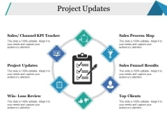 Project Updates Template 1 Ppt PowerPoint Presentation Styles Icons