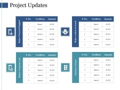 Project Updates Template Ppt PowerPoint Presentation File Graphic Images