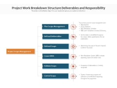 Project Work Breakdown Structure Deliverables And Responsibility Ppt PowerPoint Presentation Outline Graphic Tips PDF