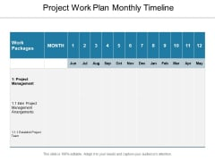 Project Work Plan Monthly Timeline Ppt PowerPoint Presentation File Layouts